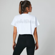 Logo Crop Top - Vit