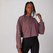Icon Cropped Hoodie - Port