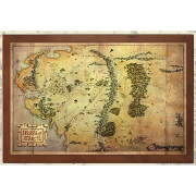 Lord of the Rings The Map of Midde Earth 16 x 12""