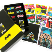 Batman 80th Anniversary Pin Badge & Art Card Set
