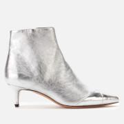 Isabel Marant Women's Durfee Metallic Low Heel Ankle Boots - Silver - UK 3 - Silver