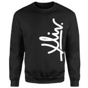 How Ridiculous XLIV Script Vertical Sweatshirt - Black
