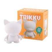Kidrobot Munnyworld DIY Mini Trikky 4 Vinyl (White)