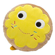 "Kidrobot Yummy World 12"""" Yellow Donut Toy Designer Plush"