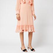 See By Chloé Women's Frill Bottom Skirt - Smokey Pink - FR 42/UK 14 - Pink