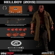 Figurine de collection articulée Hellboy (2019), échelle 1:12 – Mezco