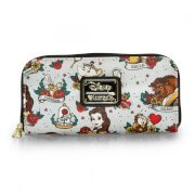 Loungefly Disney Beauty and the Beast Tattoo Style Print Wallet