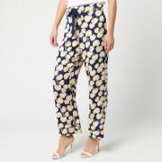Diane von Furstenberg Women's Braelyn Trousers - New Navy - M - Blue
