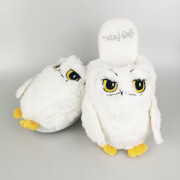 Harry Potter Womens Hedwig Slippers - White - UK 5-7