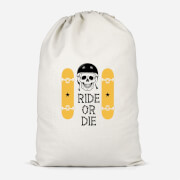 Ride Or Die Skateboard Cotton Storage Bag   Small