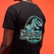 Jurassic Park Primal Floral Badge Unisex T-Shirt - Schwarz
