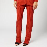 Victoria, Victoria Beckham Women's Pleated Trousers - Brick - M