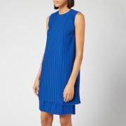 Victoria, Victoria Beckham Women's Pleated Shift Dress - Bright Blue - S