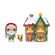 Pop! Holiday - Santas Haus mit Santa und Nutmeg Pop! Town Figur