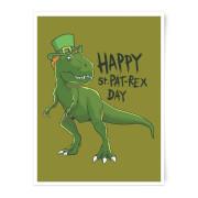 Happy St Pat-Rex Art Print - A4 - No Hanger