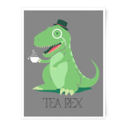Tea Rex Art Print - A4 - No Hanger