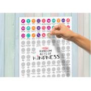 100 Tage zufälliger Akte der Freundlichkeit Poster zum Rubbeln