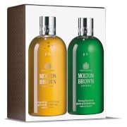 Molton Brown Invigorating Suma Ginseng & Bracing Silverbirch Bath and Shower Gel Duo 2 x 300ml