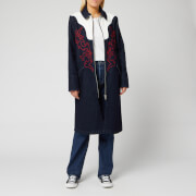 levi's women's made and crafted empire coat - empire blue - xs