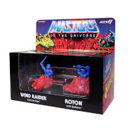 Super7 Masters of the Universe Wind Raider, He-Man, Roton and Skeletor M.U.S.C.L.E. Figures - Zavvi Exclusive (4-Pack)