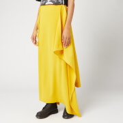 McQ Alexander McQueen Women's Midi Drape Drawstring Skirt - Gold Yellow - IT 42/UK 10