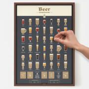 Beer Connoisseur Scratch Poster