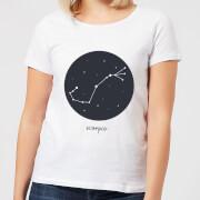 Scorpio Womens T-Shirt - White - M - White