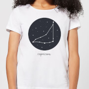 Capricorn Womens T-Shirt - White - XXL - White