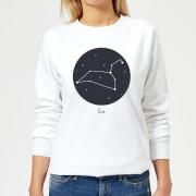 Leo Womens Sweatshirt - White - XXL - White