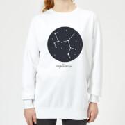 Sagittarius Womens Sweatshirt - White - S - White