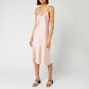 Helmut Lang Women's Double Strap Satin Slip Dress - Sorbet - US 8/UK 12