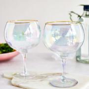 Rainbow Gin Balloon Glasses (Set of 2)