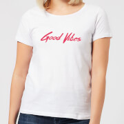 Good Vibes Womens T-Shirt - White - XL - White