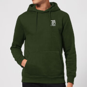 Dazza pocket text hoodie forest green l forest green