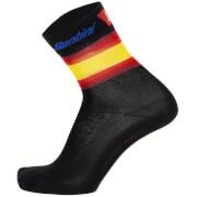 Santini La Vuelta 19 Kilometro Cero Socks - XS