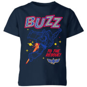 Toy Story 4 Buzz To The Rescue Kids T-Shirt - Navy - 9-10 Years - Navy