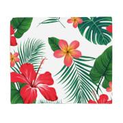 Tropical Flowers Fleece Blanket