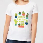 Crazy Cactus Mum Women's T-Shirt - White - M - White