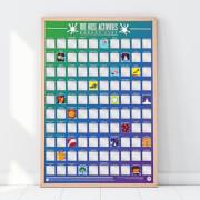 100 Kids Activities Scratch Bucket List Poster