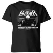 Marvel the punisher battle van kids t shirt black 7 8 ans noir