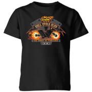 Marvel ghost rider hell cycle club kids t shirt black 7 8 ans noir