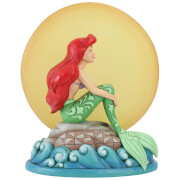 Disney Traditions - Mermaid by Moonlight (Ariel Sitting on a Rock with Light up Moon Figurine)