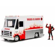 Jada Die Cast Marvel 1:24 Taco Truck and Deadpool Figure