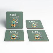 Mark Fairhurst Cafe Du Cycliste Coaster Set