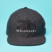 Street Fighter Arcade Ryu Logo Felt Cap - Grey