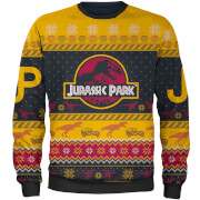 Zavvi Exclusive Jurassic Park Christmas Knitted Jumper - Yellow