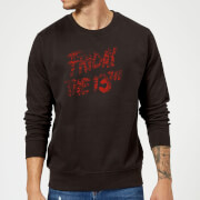Friday the 13th Logo Blood Sweatshirt - Black