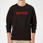 Friday the 13th Logo Sweatshirt - Black