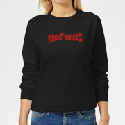 Friday the 13th Logo Women's Sweatshirt - Black