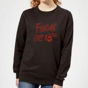 Friday the 13th Logo Blood Women's Sweatshirt - Black